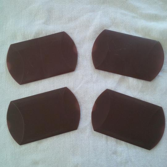 Brown Chocolate Pillow Boxes ~ 150 Count Wedding Favors Image 4