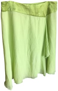 Language Skirt chartreuse green