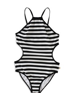Kate Spade NWT KATE SPADE GIRLS STRIPED SIDE CUT OUT 1 PIECE SWIMSUIT SWIM WEAR