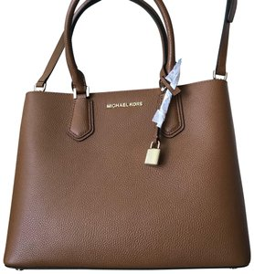Michael Kors Adele Blossom Color Satchel in Brown