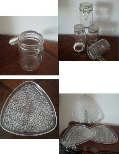 Preload https://img-static.tradesy.com/item/23471127/clear-4-jars-and-plates-centerpiece-0-0-540-540.jpg