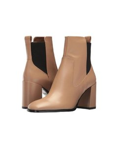 Via Spiga Leather Pull On Ankle Nude Boots