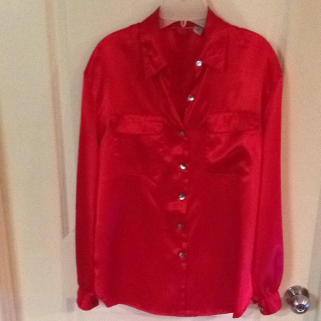 Other Button Down Shirt Red