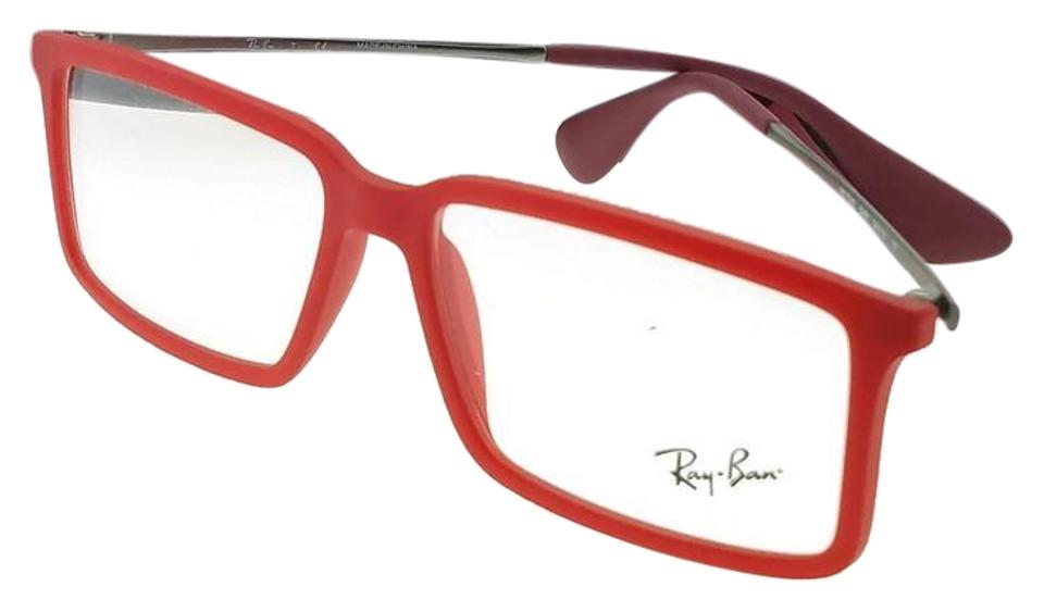 443493d5e6c85 Ray-Ban RX7043-5468 Youngster Men s Red Frame Clear Lens Genuine Eyeglasses  Image 0 ...