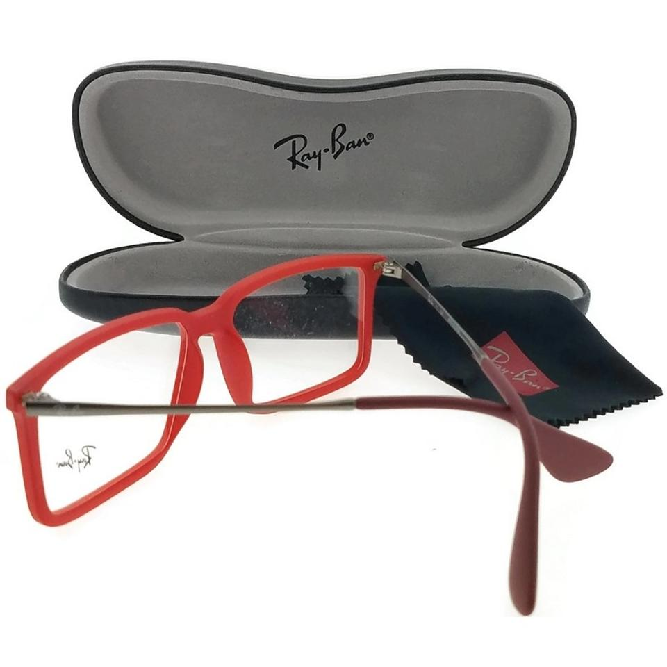 9c2d7ebfdc19d Ray-Ban RX7043-5468 Youngster Men s Red Frame Clear Lens Genuine Eyeglasses  Image 2. 123