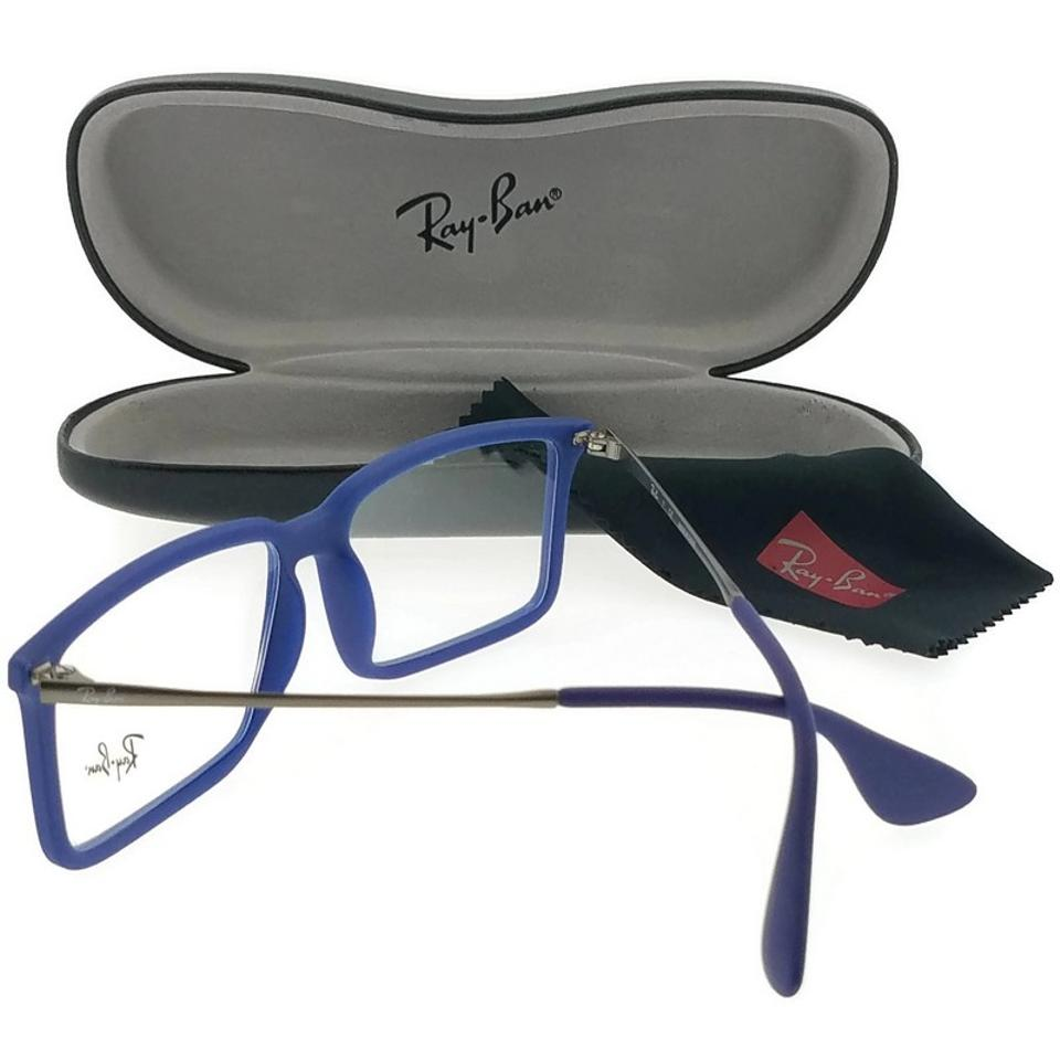 7b78f84bd1b9 Ray-Ban RX7043-5467 Youngster Men's Blue Frame Clear Lens Genuine  Eyeglasses Image 2. 123