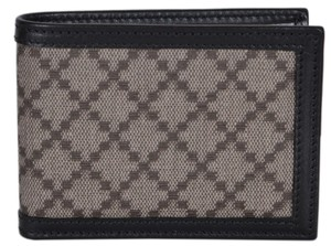 2494e10c47f2 Gucci NEW Gucci Men's 233157 Black Beige Diamante Canvas Mini GG Wallet
