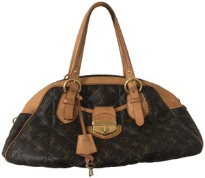 Louis Vuitton Monogram Bowling Style Etoile Satchel in Classic brown