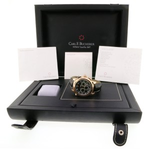 Carl F. Bucherer CARL BUCHERER Patravi TravelTec Black Dial Watch 10620 w/Box&Booklet