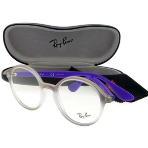 Ray-Ban RX7075-5600 Youngster Unisex PurpleFrame Clear Lens Eyeglasses
