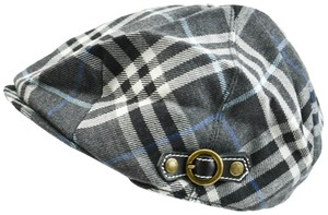 Burberry Nova-Check Wool (o) Cabbie/Newsboy Sz: M Hat