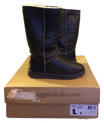 ugg tall leather bomber boots