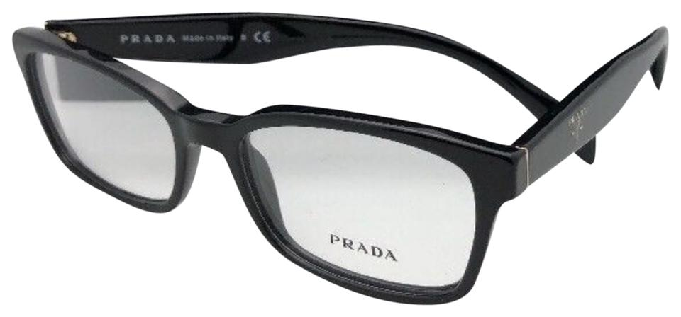 Prada New Vpr 08t 1ab-1o1 51-16 140 Shiny Black Frames W/Clear ...