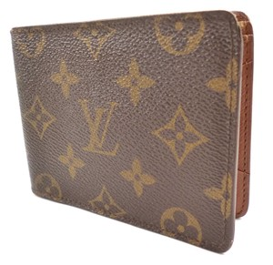 Louis Vuitton Brown Multiple Wallet Monogram Canvas Bifold Men's Jewelry/Accessory