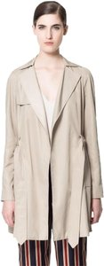 Zara Cotton Double Breasted Robe Trench Coat