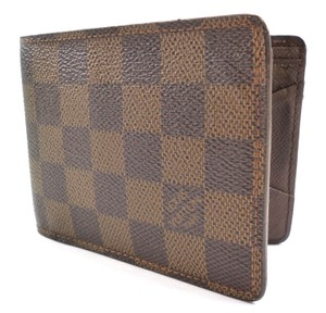 Louis Vuitton Brown Damier Canvas Multiple Bifold Wallet Men's Jewelry/Accessory