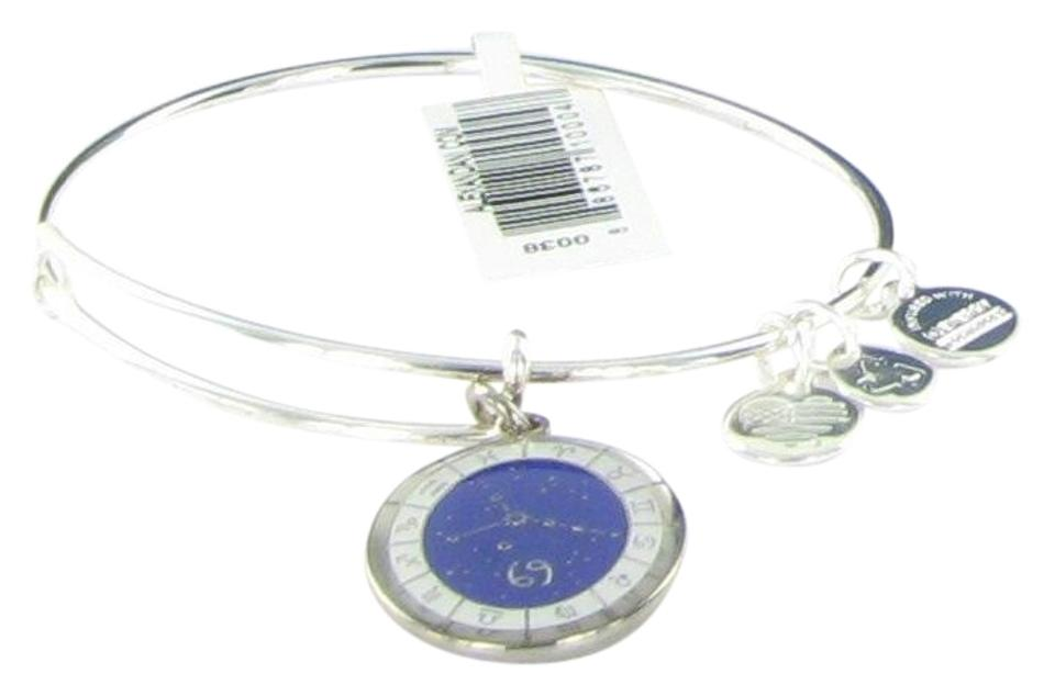 Alex And Ani Cancer Celestial Wheel Silver Charm Bangle Bracelet A15eb60ss