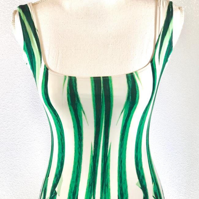 8cf7fb73f70 Roberto Cavalli short dress Green White Bodycon Summer Print Sleeveless  Mini on Tradesy Image 3