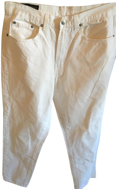 Item - White Light Wash Straight Leg Jeans Size 33 (10, M)