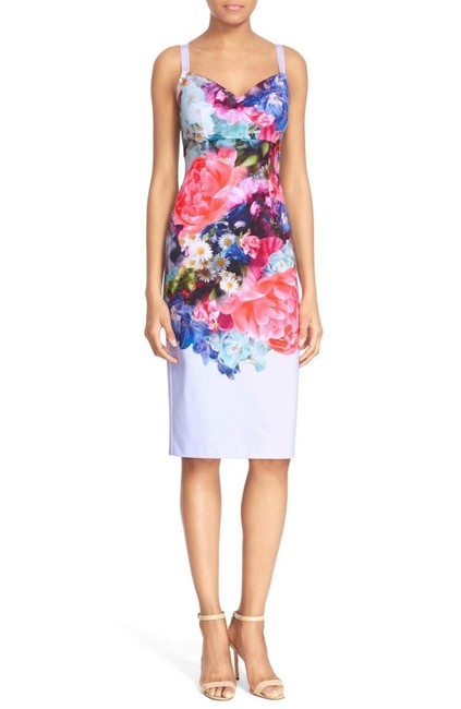 Ted Baker London 'emore' Floral Print Strappy Sheath Mid-length Cocktail Dress Size 2 (XS) Ted Baker London 'emore' Floral Print Strappy Sheath Mid-length Cocktail Dress Size 2 (XS) Image 1