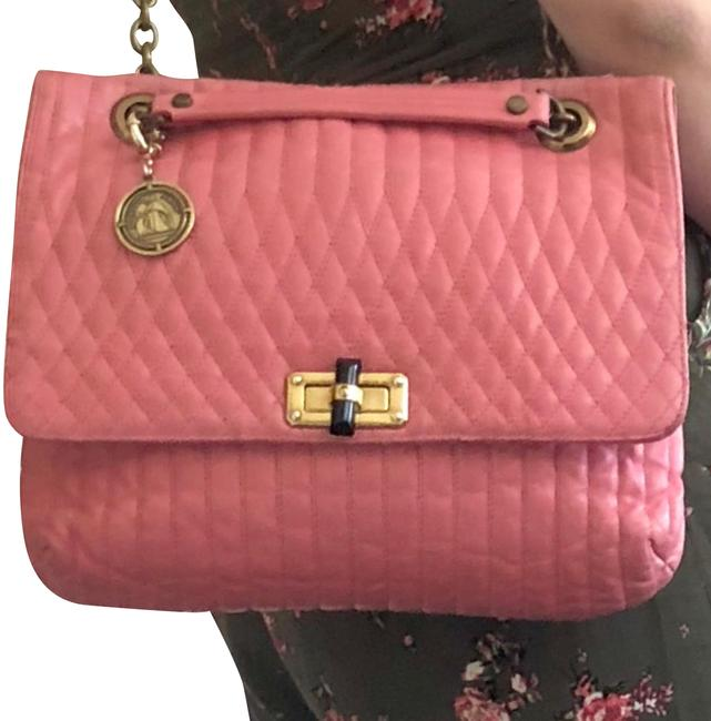 Item - Happy Pink Coral Lambskin Shoulder Bag