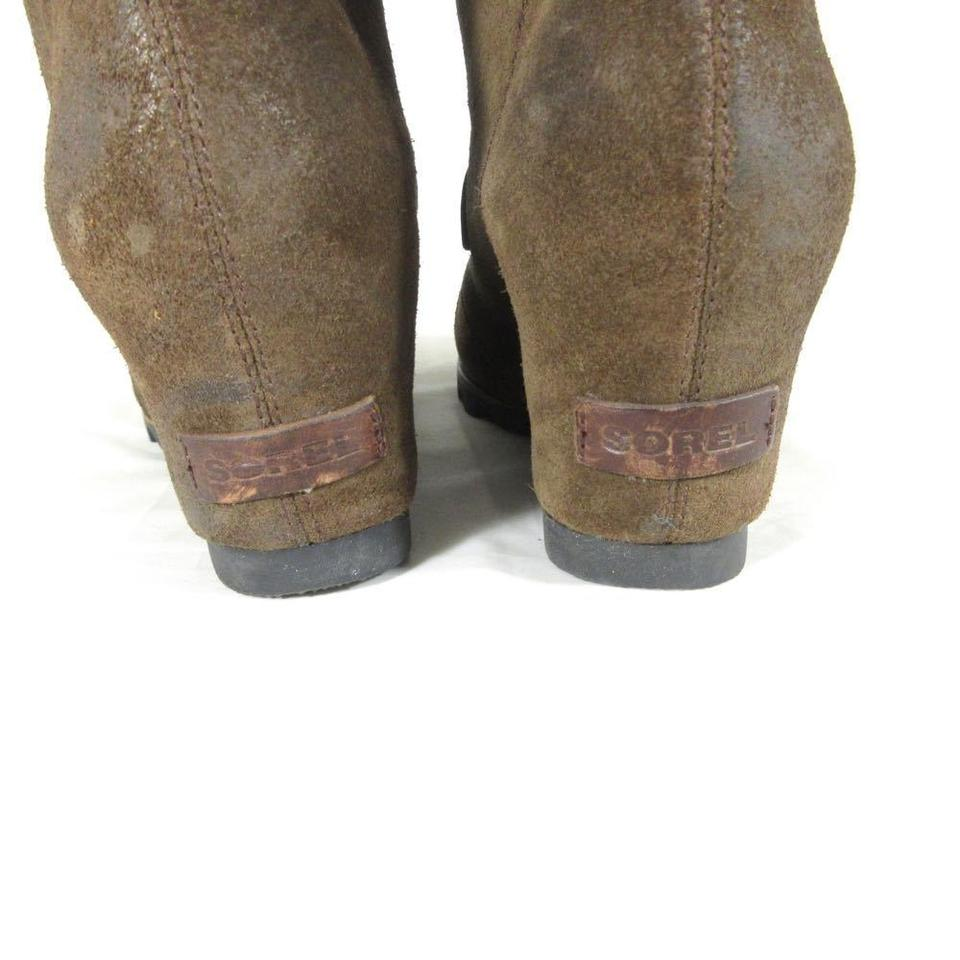 4543f3a58950 Sorel Brown - Leather Joan Of Arctic Lace Up Tall Wedge Boots ...