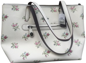 Coach Tote in Cream with floral
