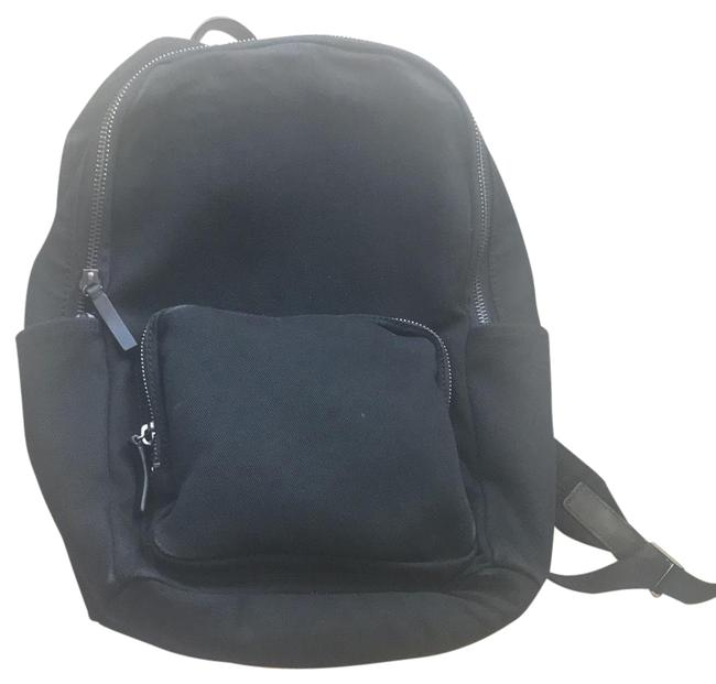 Item - Modern Zip - Large Black Water Resistant Cotton Twill Exterior Backpack