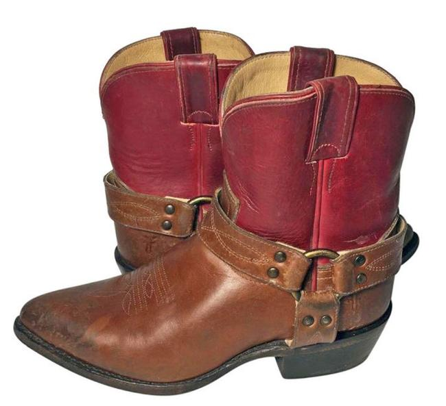 Item - Red 76025 Billy Harness Leather Cowgirl Women Boots/Booties Size US 8.5 Regular (M, B)