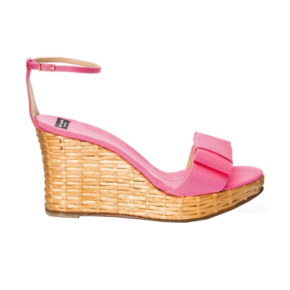 f4dd46cf250 Kate Spade New Rare Spring 2005 Wicker Cabo Heels In Pink with Box Wedges