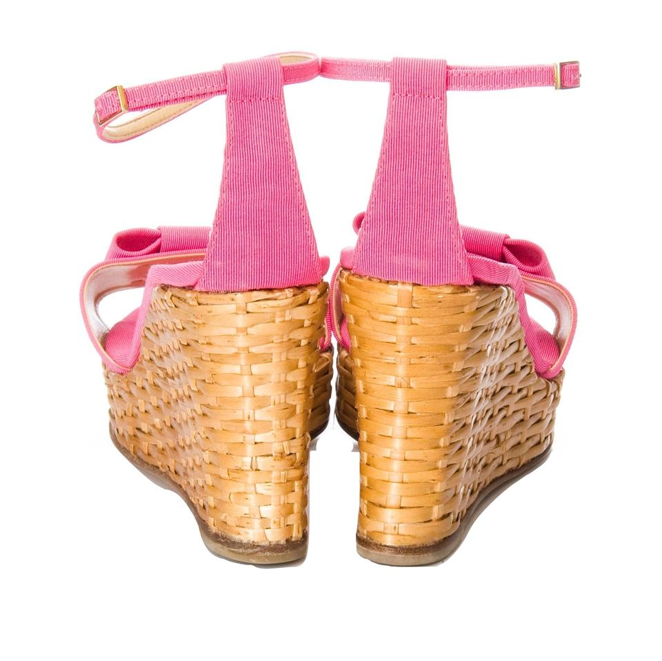 0751aacc689 Kate Spade New Rare Spring 2005 Wicker Cabo Heels In Pink with Box ...