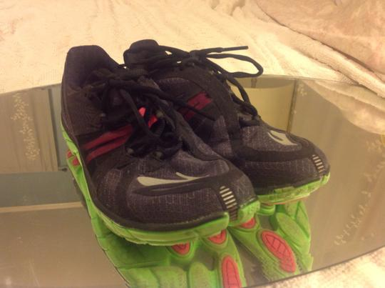 Brooks Barefoot Running Black with Lime Green and Pink Athletic