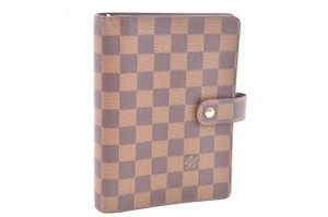 Louis Vuitton Authentic Louis Vuitton Monogram Agenda MM Day Planner Cover R20004 LV