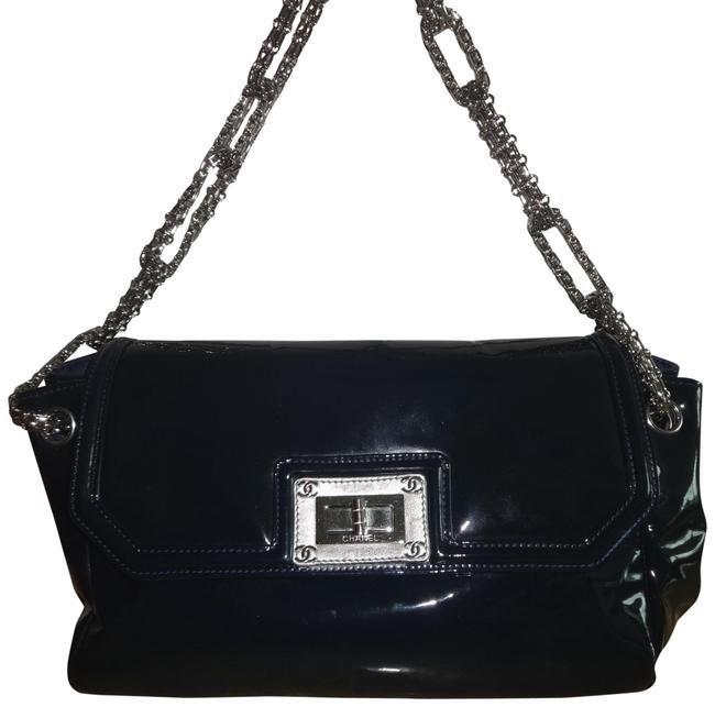 Item - Shoulder Bag 2.55 Reissue Chain Navy Patent Leather Tote