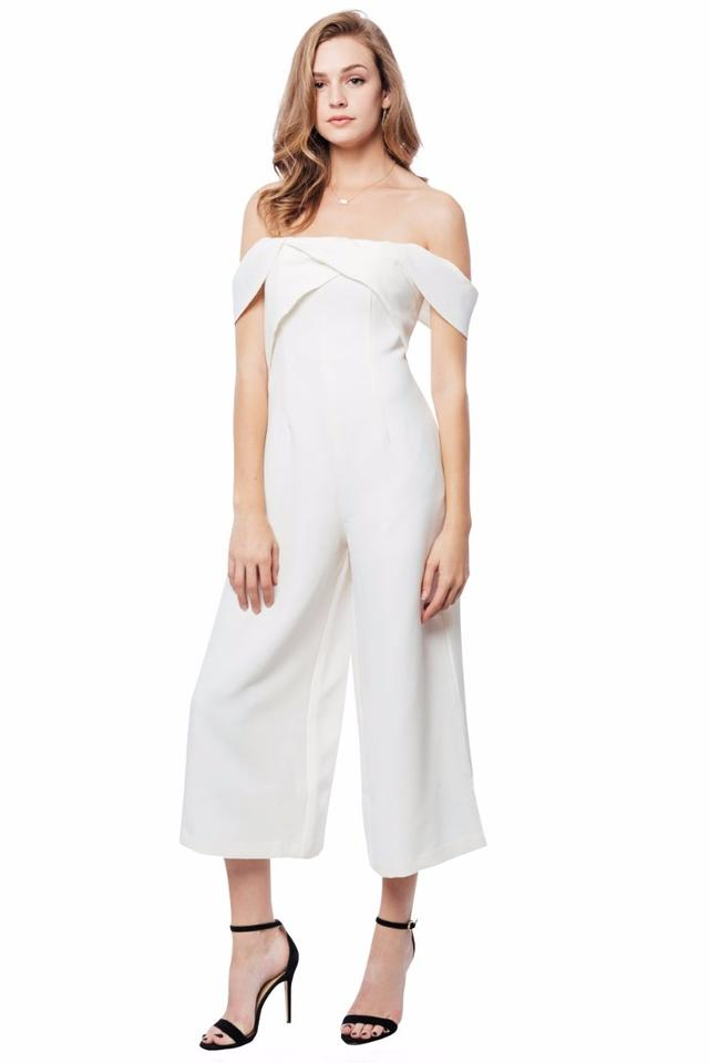 8bd2ced17d94 Keepsake the Label White Shooting Star Romper Jumpsuit - Tradesy