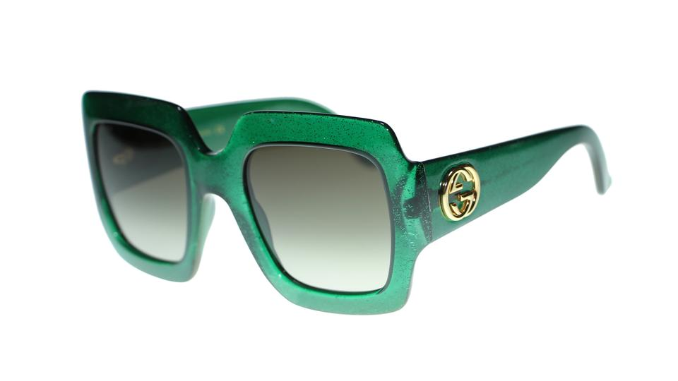 612c18bae3ec Gucci Green Square Gg0053s 005 Green/Brown Gradient Lens 54mm Sunglasses