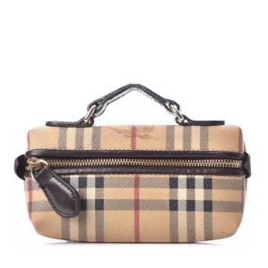 Burberry Wristlet in brown/ tan