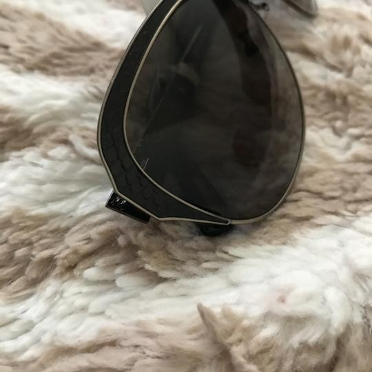 Lanvin Snake Embossed-Leather Cat's Eye Sunglasses