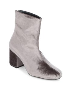Free People Velvet Ankle Cecile Grey Boots