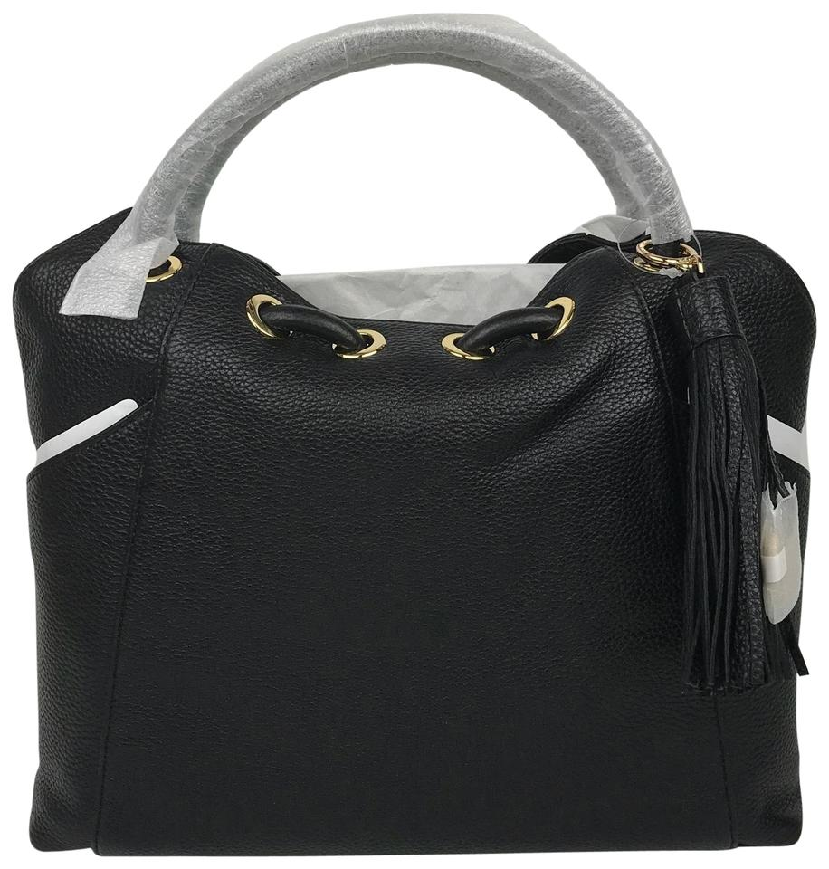 e9f42ccf31aa MICHAEL Michael Kors Ew Ring Tote Black Leather Shoulder Bag - Tradesy