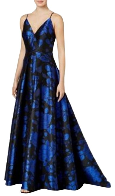 Item - Navi V-neck Floral-print Gown Women Long Cocktail Dress Size 6 (S)