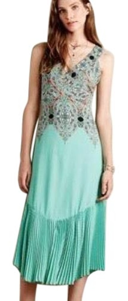 e472642e7d8a Anthropologie Turquoise Canyon Creek Mermaid Long Casual Maxi Dress ...