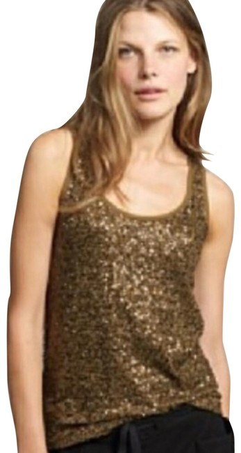 Item - Bronze Sequin Tank Top/Cami Size 2 (XS)