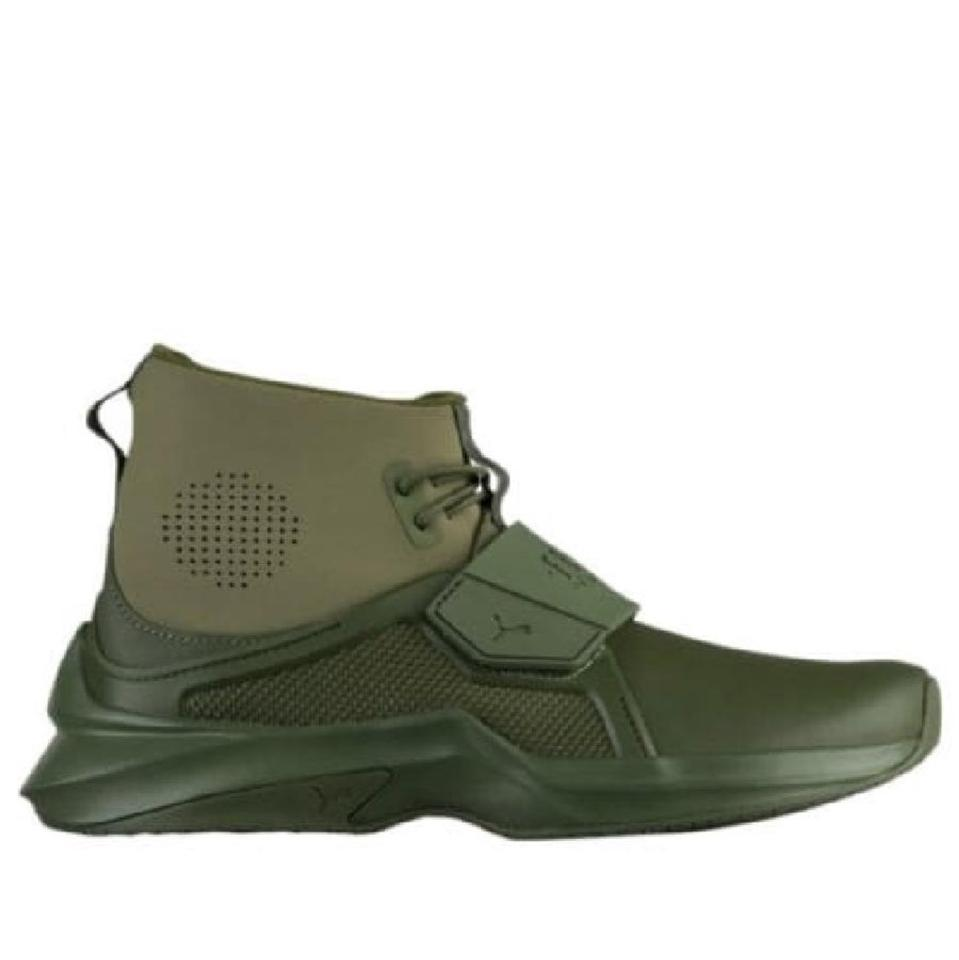 brand new 0260c 6f353 Olive Green Trainer Sneakers
