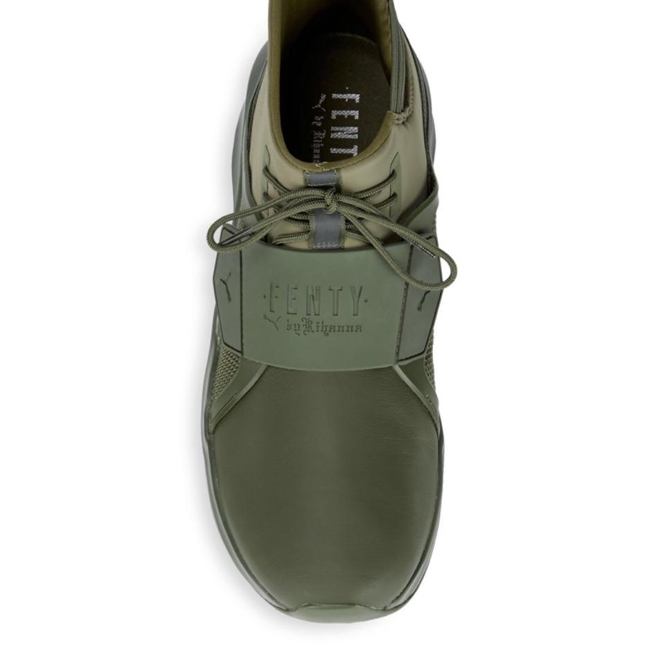brand new 24c03 a50a8 Olive Green Trainer Sneakers