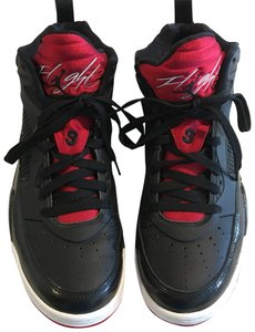 Air Jordan Black/Gym Red- White Athletic