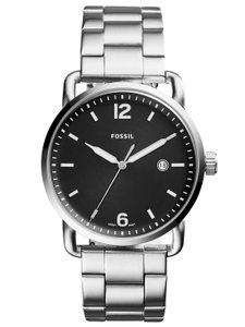 Fossil Fossil Men's Silver Commuter Stainless Steel Watch FS5391