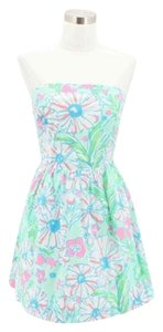 Lilly Pulitzer short dress Blue Green Pink on Tradesy