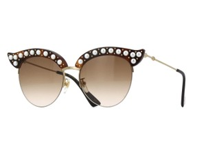 Gucci Cat eye acetate sunglasses with pearls 491440