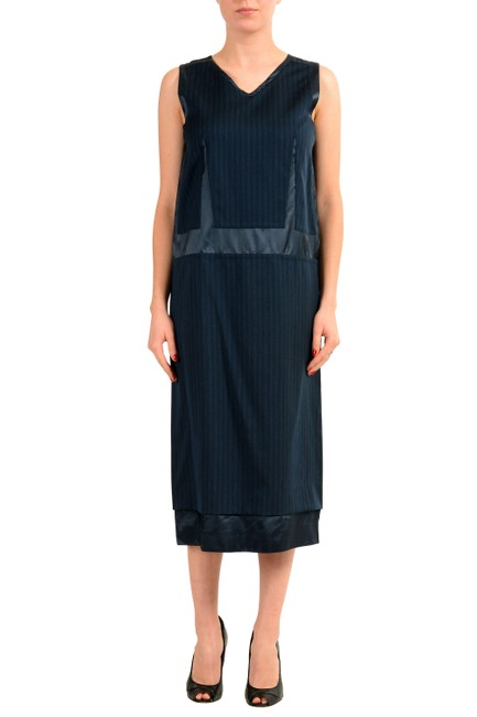 Item - Blue Kj-11814 Mid-length Casual Maxi Dress Size 4 (S)